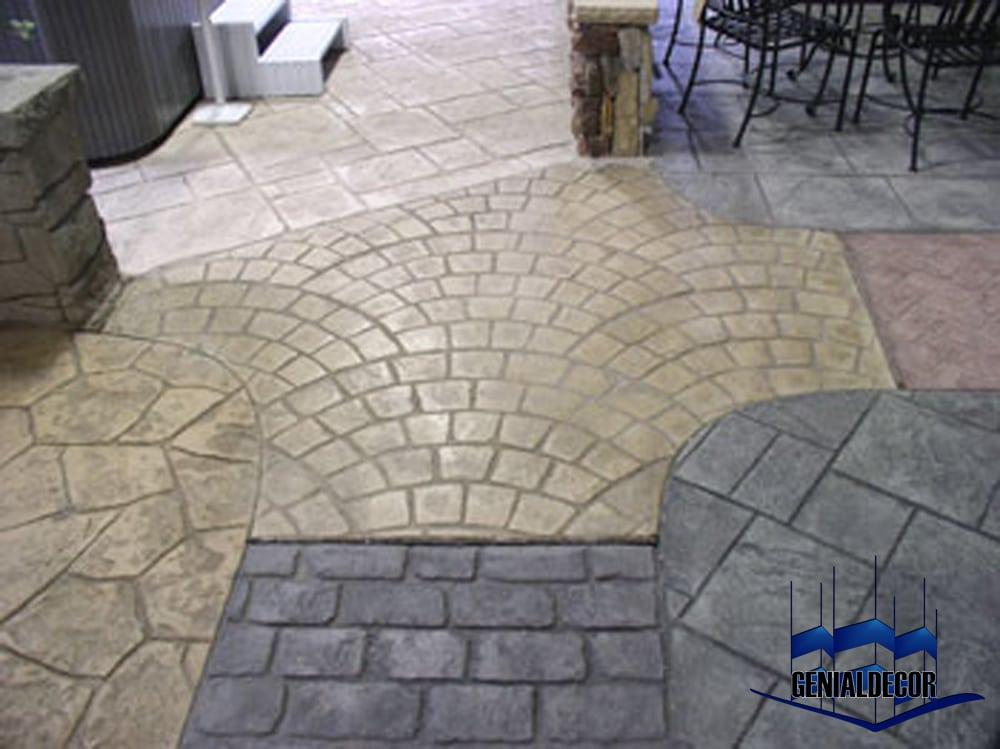 Sobre concreto estampado genialdecor part 2 for Pisos para cocheras y patios