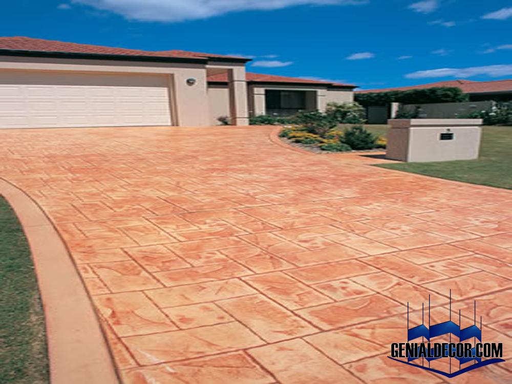 Galeria de concreto estampado genialdecor for Pisos para cocheras y patios