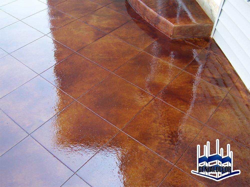 Pisos de concreto oxidado genialdecor for Decoracion para pisos
