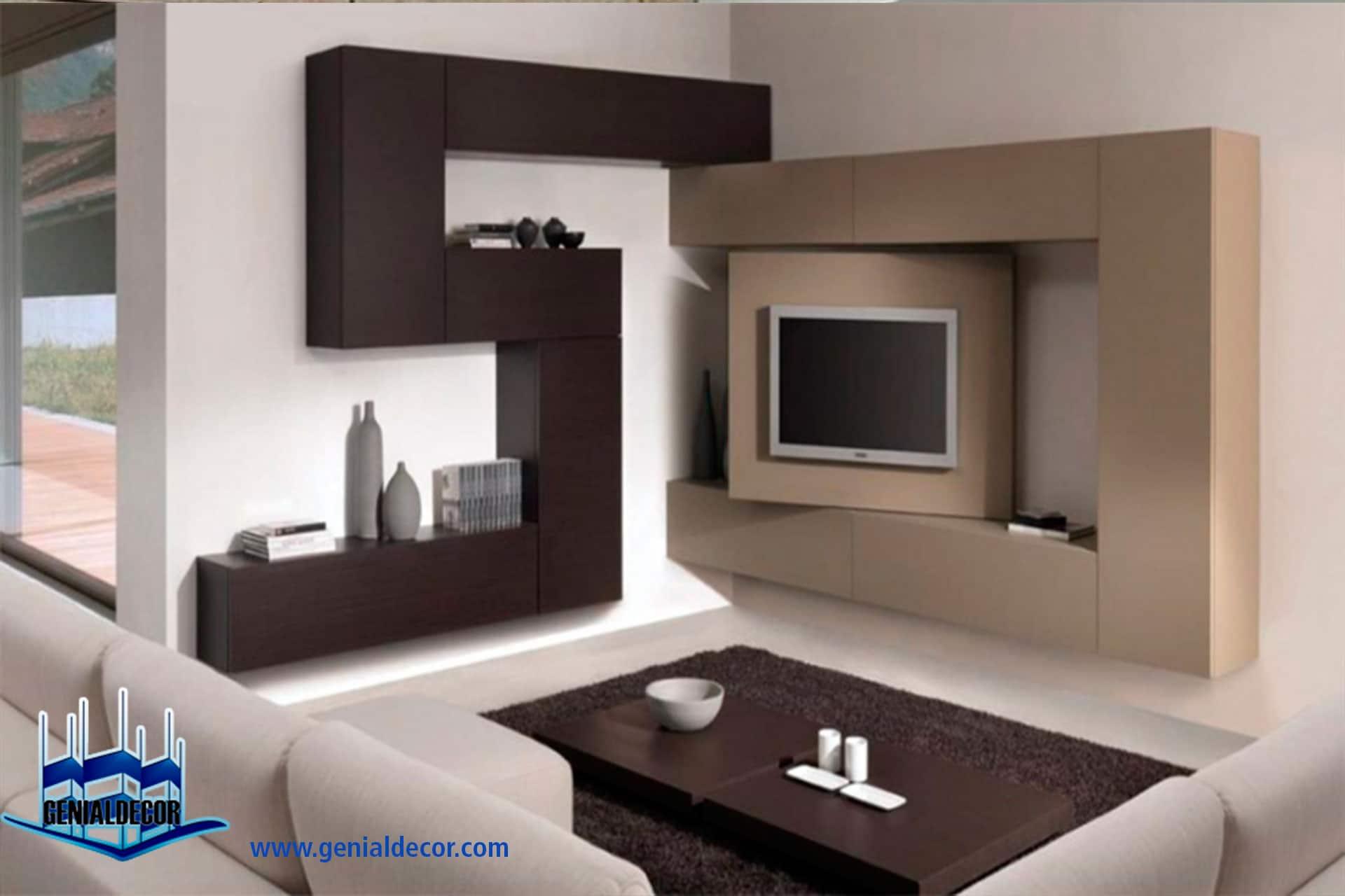 Muebles de entretenimiento de tablaroca 20170715100607 - Decoracion mueble tv ...