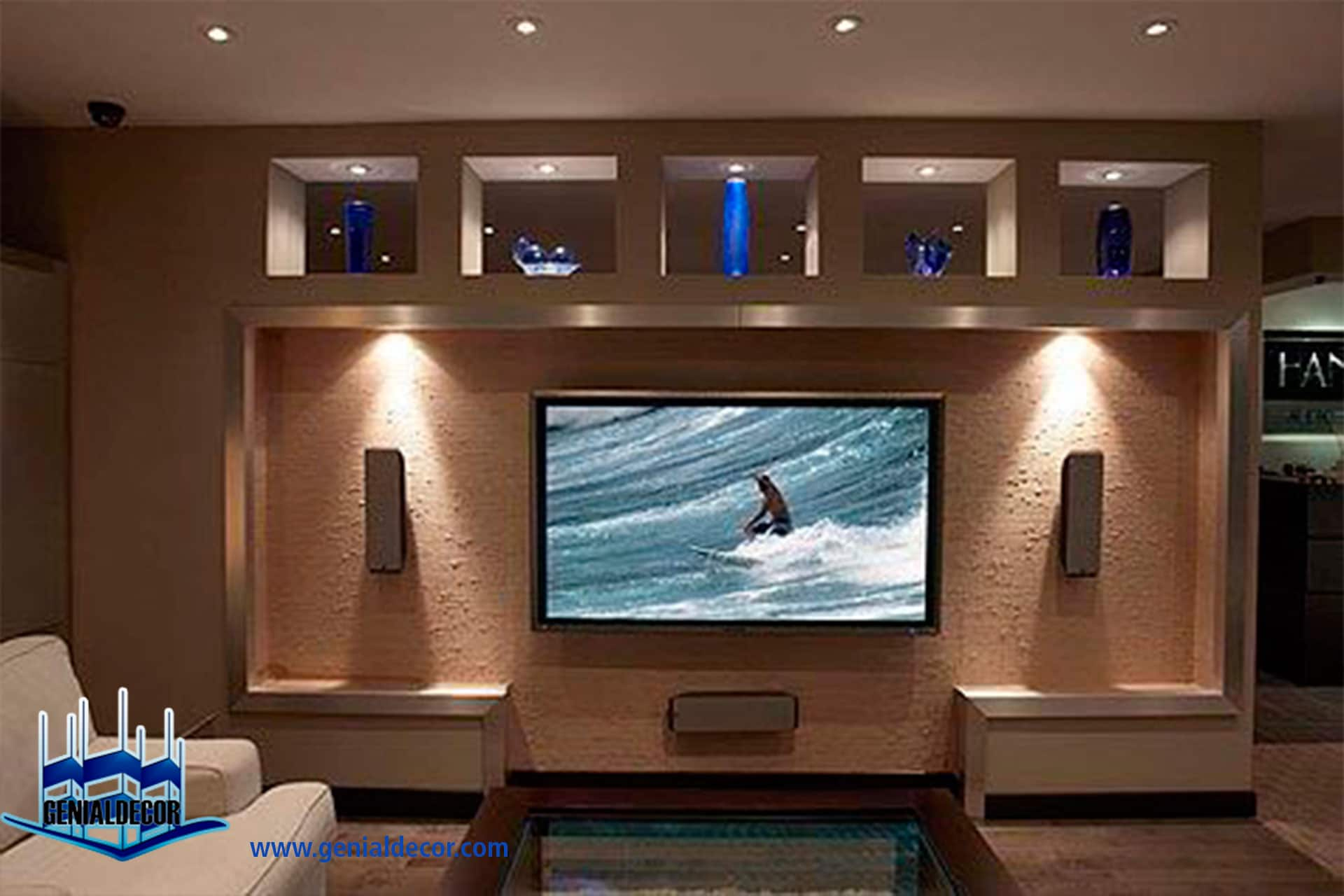 67 living room ideas with big screen tv impressive - Adornos para la pared ...