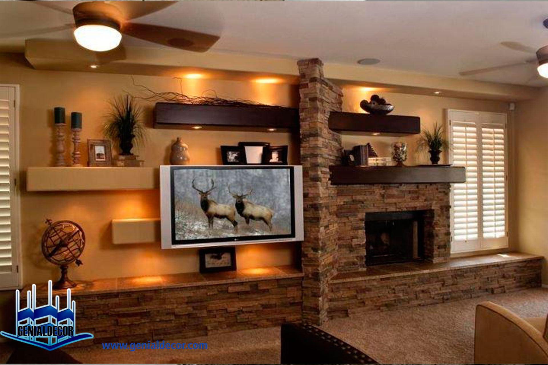 Tips para la decoraci n de centro de entretenimiento - Muebles de piedra ...
